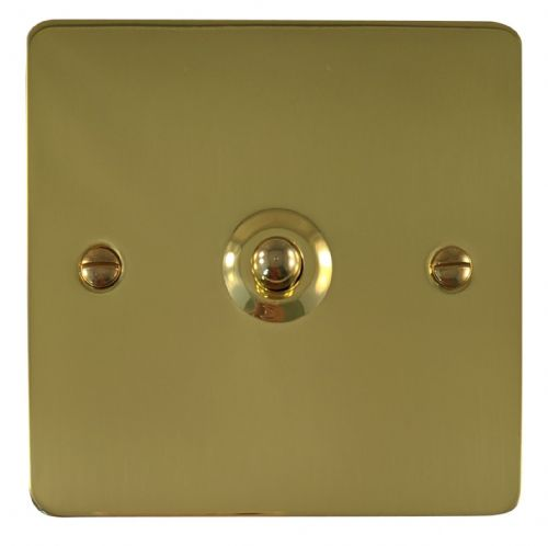 G&H FB281 Flat Plate Polished Brass 1 Gang 1 or 2 Way Toggle Light Switch